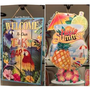 Other - Set of 2 Summer Wall Decor Pieces